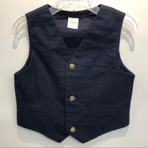 Gymboree Boys Linen/Cotton Vest Size 3T